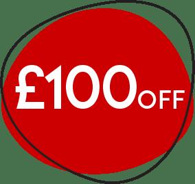 £100 off