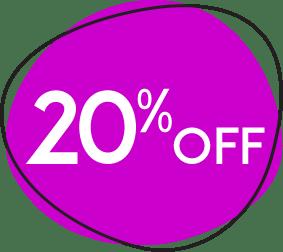 20% off