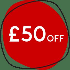 £50 off